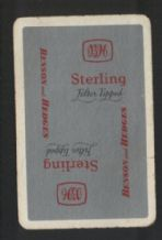 Advertising  playing cards Sterling cigarettes Benson & Hedges